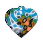 Color_Magma-559871 Dog Tag Heart (One Side)