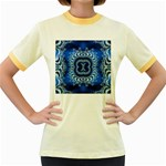 bluerings-185954 Women s Fitted Ringer T-Shirt