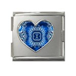 bluerings-185954 Mega Link Heart Italian Charm (18mm)