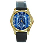 bluerings-185954 Round Gold Metal Watch