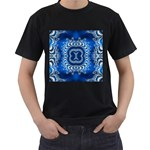 bluerings-185954 Black T-Shirt (Two Sides)