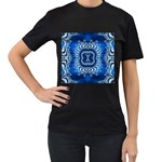 bluerings-185954 Women s Black T-Shirt (Two Sides)