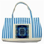 bluerings-185954 Striped Blue Tote Bag