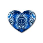 bluerings-185954 Rubber Coaster (Heart)