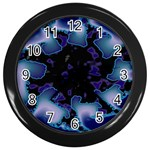 blue%20design%20wave%202-662985 Wall Clock (Black)