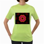 Astral-Reflection-03-515417 Women s Green T-Shirt