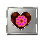 Astral-Reflection-03-515417 Mega Link Heart Italian Charm (18mm)