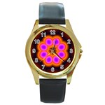Astral-Reflection-03-515417 Round Gold Metal Watch