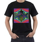 Uladusa_Desktop-976877 Black T-Shirt (Two Sides)