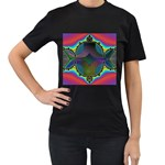 Uladusa_Desktop-976877 Women s Black T-Shirt (Two Sides)