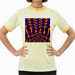 wallpaper%20spumanti%2002-776205 Women s Fitted Ringer T-Shirt