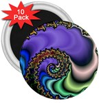 Colorfull_Fractal-215042 3  Magnet (10 pack)