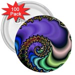 Colorfull_Fractal-215042 3  Button (100 pack)