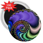 Colorfull_Fractal-215042 3  Magnet (100 pack)