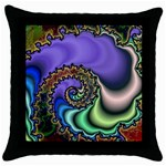 Colorfull_Fractal-215042 Throw Pillow Case (Black)
