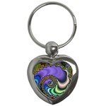 Colorfull_Fractal-215042 Key Chain (Heart)
