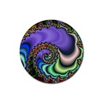 Colorfull_Fractal-215042 Rubber Round Coaster (4 pack)