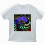 Colorfull_Fractal-215042 Kids White T-Shirt