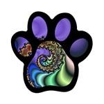 Colorfull_Fractal-215042 Magnet (Paw Print)