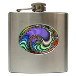 Colorfull_Fractal-215042 Hip Flask (6 oz)