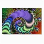 Colorfull_Fractal-215042 Postcard 4 x 6  (Pkg of 10)