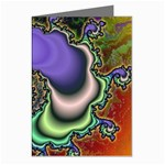 Colorfull_Fractal-215042 Greeting Cards (Pkg of 8)