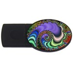 Colorfull_Fractal-215042 USB Flash Drive Oval (1 GB)