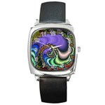 Colorfull_Fractal-215042 Square Metal Watch