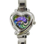 Colorfull_Fractal-215042 Heart Italian Charm Watch