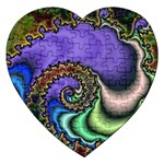Colorfull_Fractal-215042 Jigsaw Puzzle (Heart)