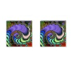 Colorfull_Fractal-215042 Cufflinks (Square)