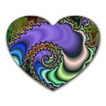 Colorfull_Fractal-215042 Mousepad (Heart)