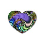 Colorfull_Fractal-215042 Rubber Coaster (Heart)