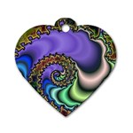 Colorfull_Fractal-215042 Dog Tag Heart (One Side)