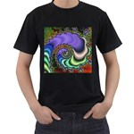 Colorfull_Fractal-215042 Black T-Shirt