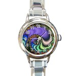 Colorfull_Fractal-215042 Round Italian Charm Watch