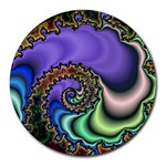Colorfull_Fractal-215042 Round Mousepad