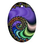 Colorfull_Fractal-215042 Ornament (Oval)