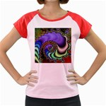 Colorfull_Fractal-215042 Women s Cap Sleeve T-Shirt