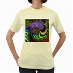 Colorfull_Fractal-215042 Women s Yellow T-Shirt