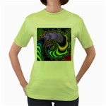 Colorfull_Fractal-215042 Women s Green T-Shirt