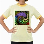 Colorfull_Fractal-215042 Women s Fitted Ringer T-Shirt