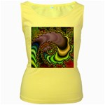 Colorfull_Fractal-215042 Women s Yellow Tank Top