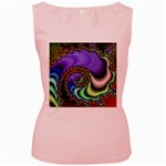Colorfull_Fractal-215042 Women s Pink Tank Top