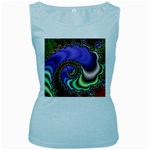Colorfull_Fractal-215042 Women s Baby Blue Tank Top