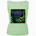 Colorfull_Fractal-215042 Women s Green Tank Top