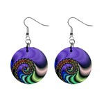 Colorfull_Fractal-215042 1  Button Earrings