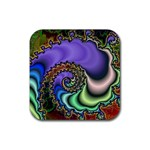 Colorfull_Fractal-215042 Rubber Square Coaster (4 pack)