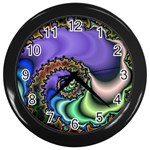 Colorfull_Fractal-215042 Wall Clock (Black)