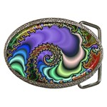 Colorfull_Fractal-215042 Belt Buckle